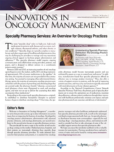 Innovations in Oncology Management, Vol. 2 No. 2